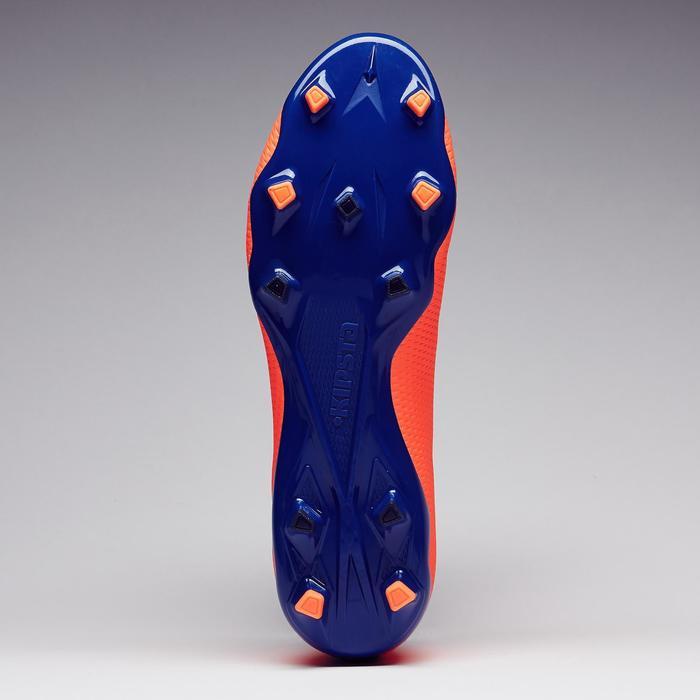 Chaussure de football adulte terrains secs CLR900 FG orange bleue - 1279766