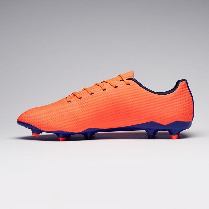 Chaussure de football adulte terrains secs CLR900 FG orange bleue - 1279768