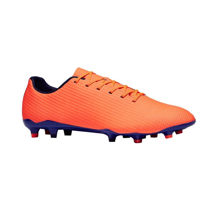 Chaussure de football adulte terrains secs CLR900 FG orange bleue - 1279769