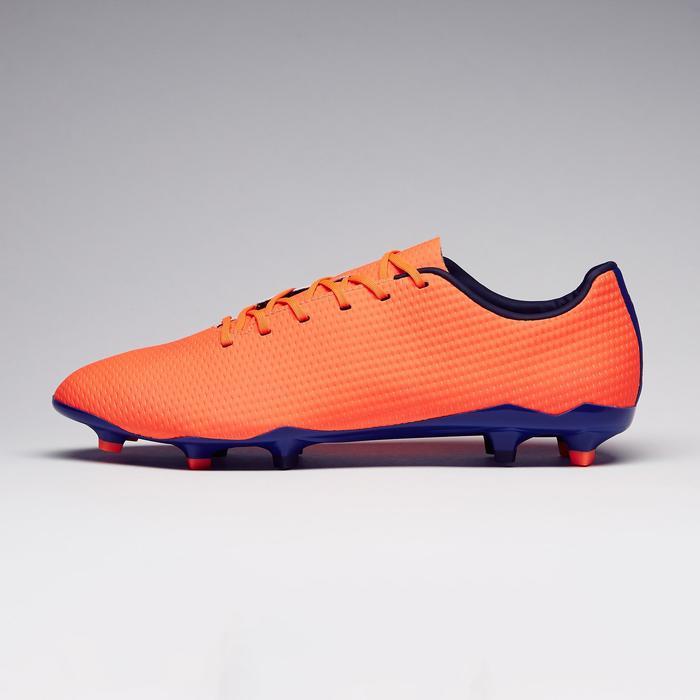 Chaussure de football adulte terrains secs CLR900 FG orange bleue - 1279770