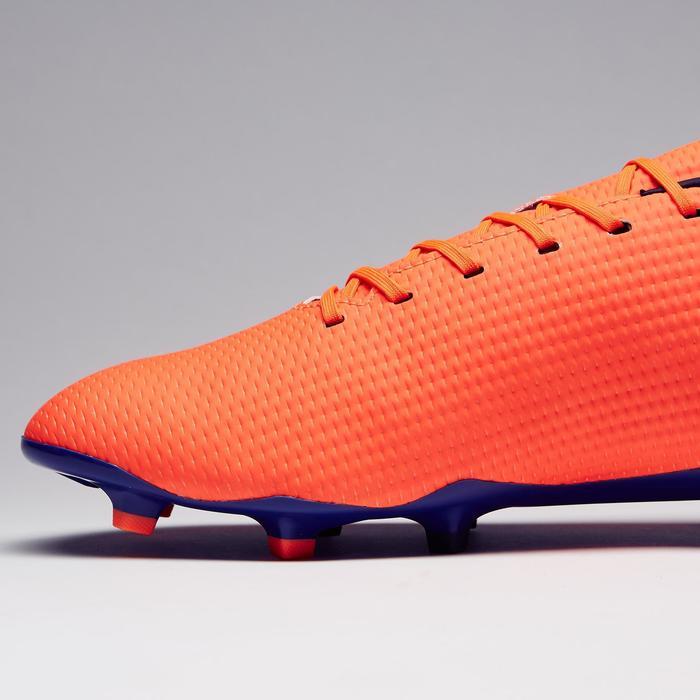 Botas de fútbol adulto terrenos secos CLR 900 FG naranja azul