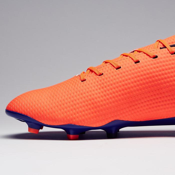 Chaussure de football adulte terrains secs CLR900 FG orange bleue - 1279771