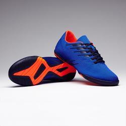 Zaalvoetbalschoenen CLR 300 blauw oranje