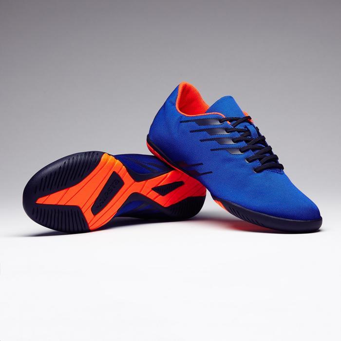 Zaalvoetbalschoenen volwassenen CLR 300 blauw oranje