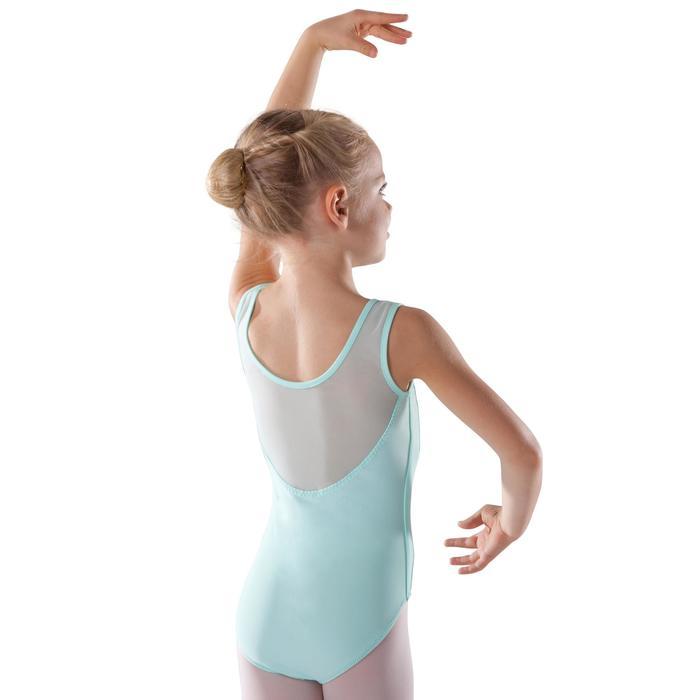 Maillot de danza clásica en dos tejidos niña verde claro