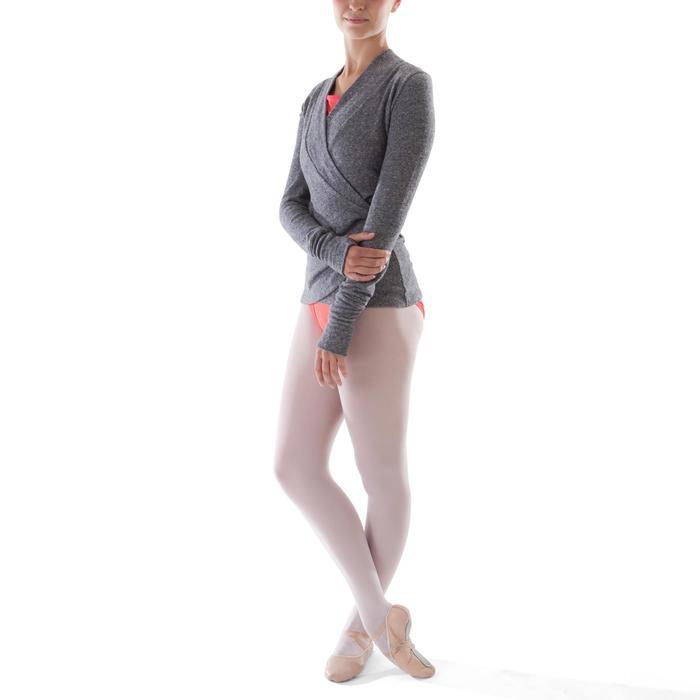 Cache-coeur de danse classique femme gris chiné - 1279888