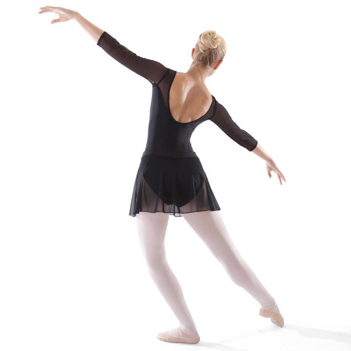 Faldita de danza clásica de gasa mujer negro