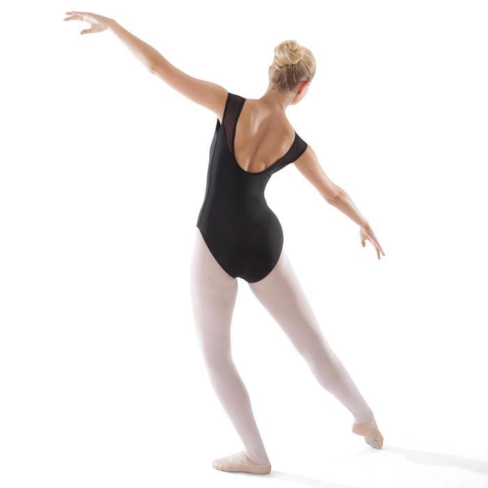 Justaucorps de danse classique manches courtes bi-matière femme - 1279890