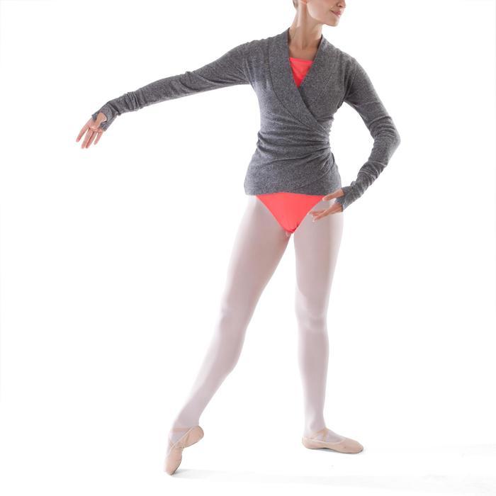 Cache-coeur de danse classique femme gris chiné - 1279894