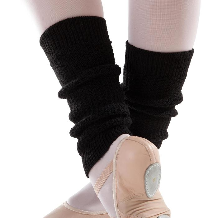 Tanzstulpen für Ballett und Modern Kinder schwarz