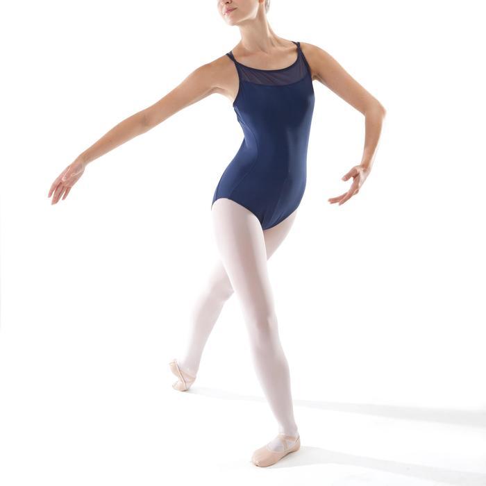 Justaucorps de danse classique à bretelles croisées femme bleu marine - 1279976