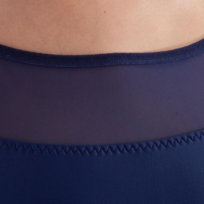 Balletpakje met gekruiste bandjes voor dames marineblauw