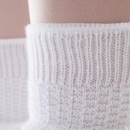 ملابس تدفئة للساق Warmers للبنات - أبيض