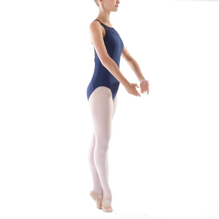 Justaucorps de danse classique à bretelles croisées femme bleu marine