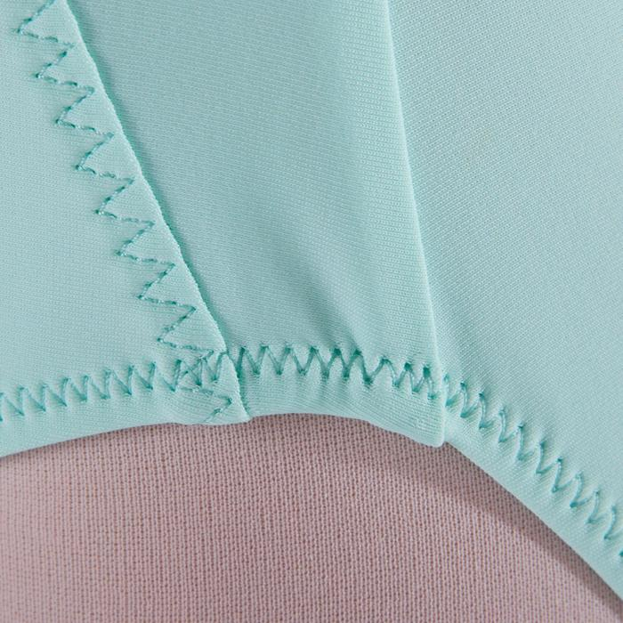 Tanzbody Bi-Material Mädchen blassgrün