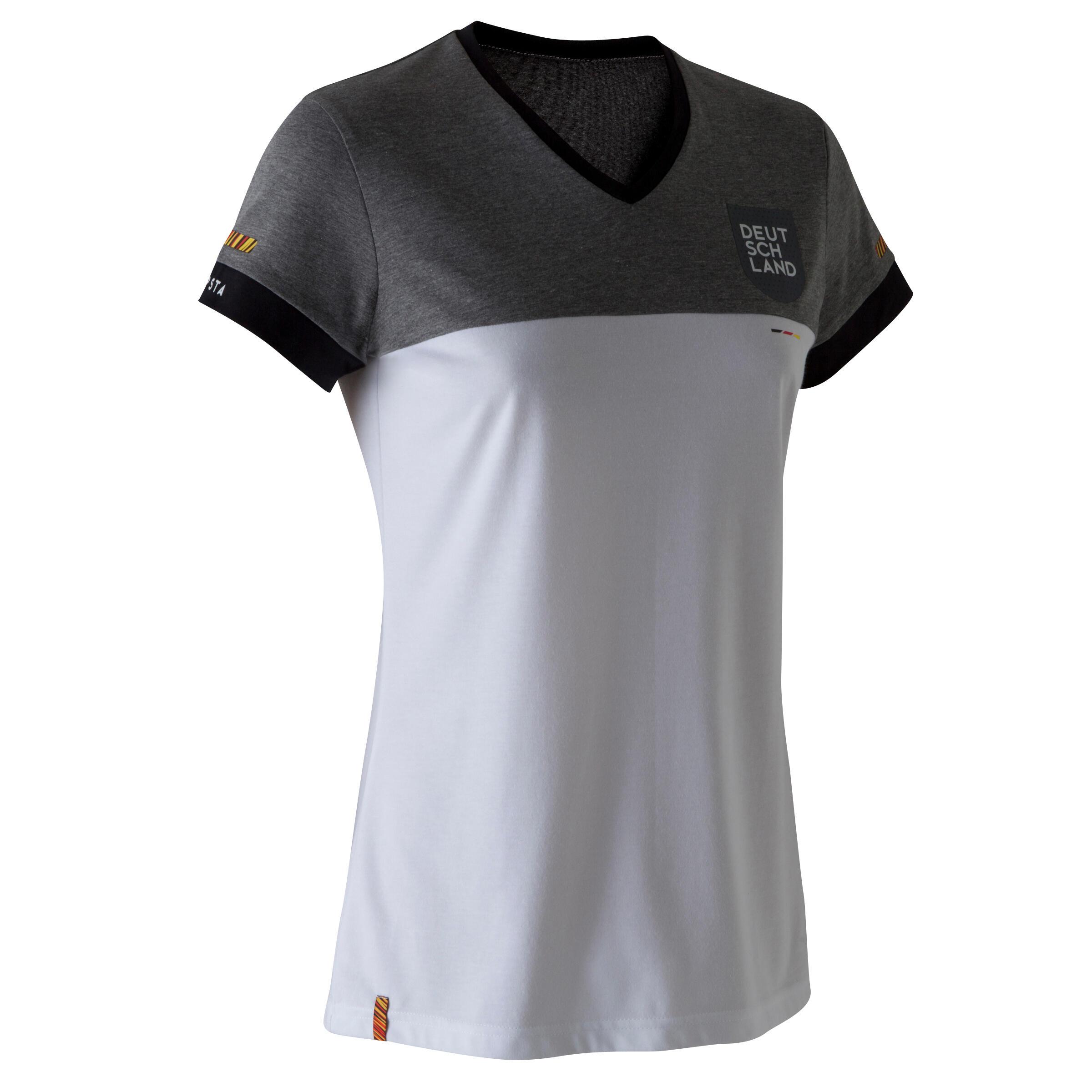 T shirt de football femme ff100 allemagne blanc kipsta