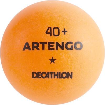 מארז 6 כדורי טניס שולחן כוכב 1 4+ דגם TTB 100 - כתום