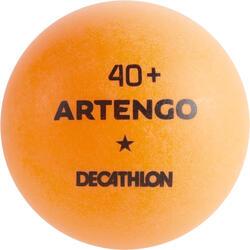 Tischtennisbälle TTB100 1* 40+ 6Stück orange