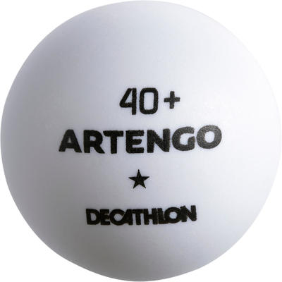 М'ячі TTB 100* для настільного тенісу, 40+, 6 шт. - Білі