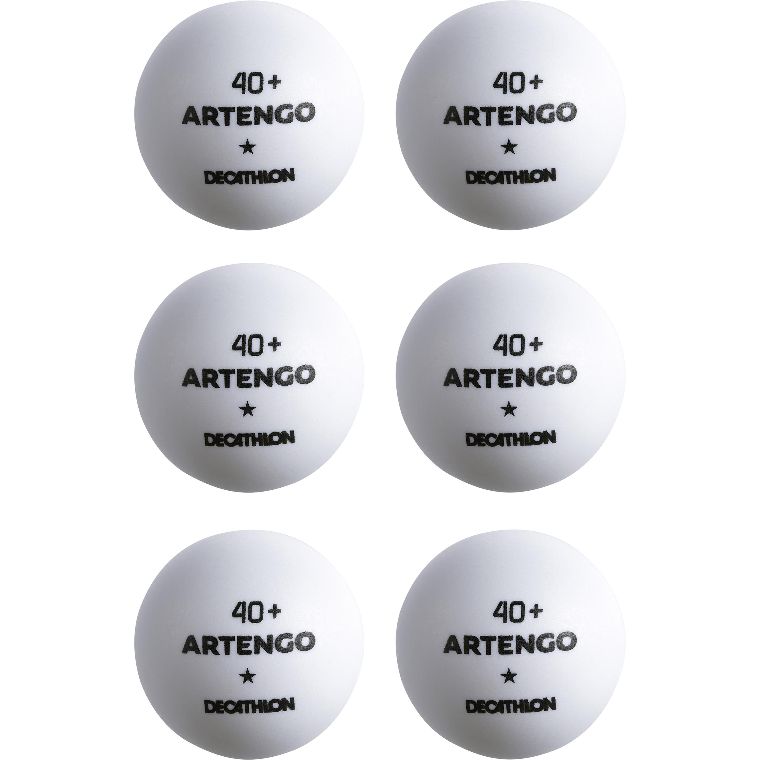 TTB 100 1* 4+ Table Tennis Balls 6-Pack - White
