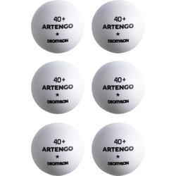 Tafeltennisballetjes TTB 100 1ster 40+ X6 wit