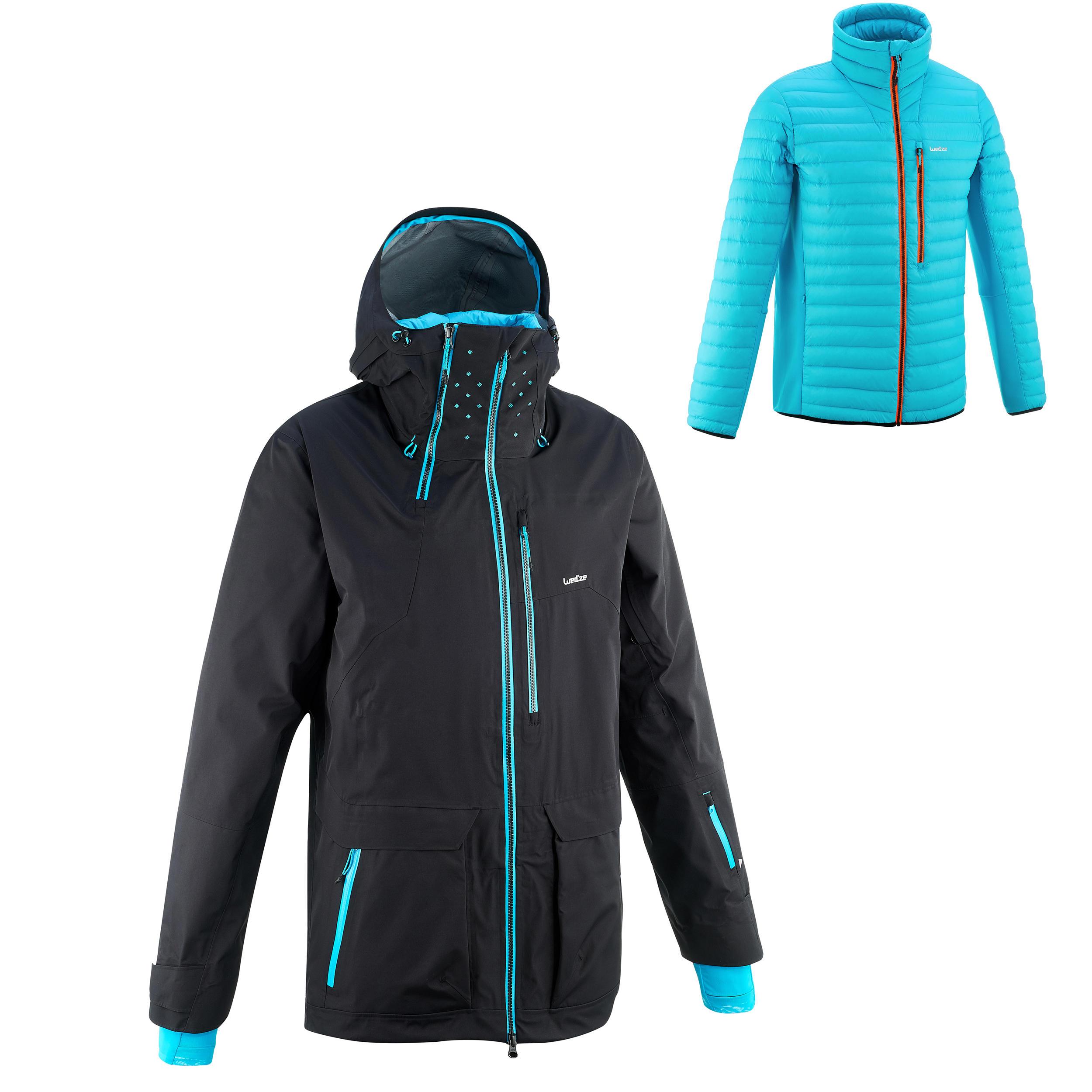 Wed'ze Heren ski-jas Free 900 voor freeride zwart thumbnail