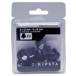 Schraubstollen Nylon 13–16mm für Fußballschuhe schwarz
