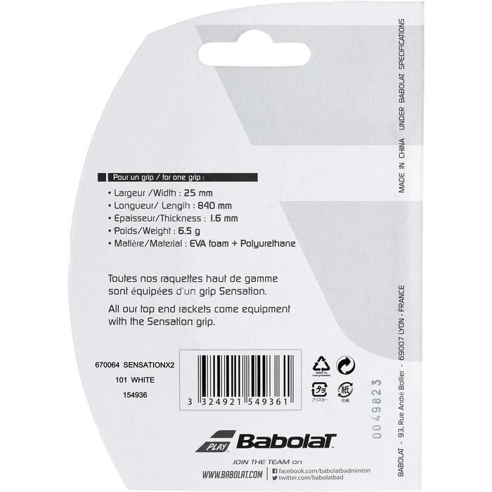 GRIP DE BADMINTON BABOLAT SENSATION GRIP X2 BLANC