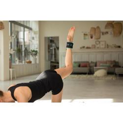 Lastres y Pesas para Tobillos y Muñecas Gimnasia Pilates Domyos 2X0.5KG Negro/Az