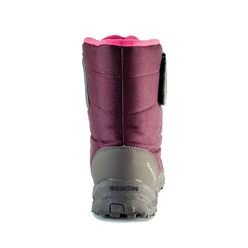KIDS' WARM AND WATERPROOF SNOW BOOTS - SH100 X-WARM