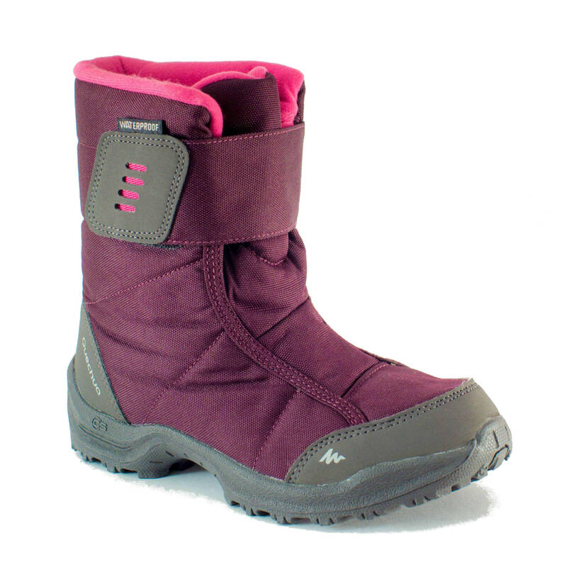 DĚTSKÉ BOTY NA ZIMNÍ TURISTIKU Dětské boty - SNĚHULE SH 100 X-WARM RŮŽOVÉ QUECHUA - Dětské boty
