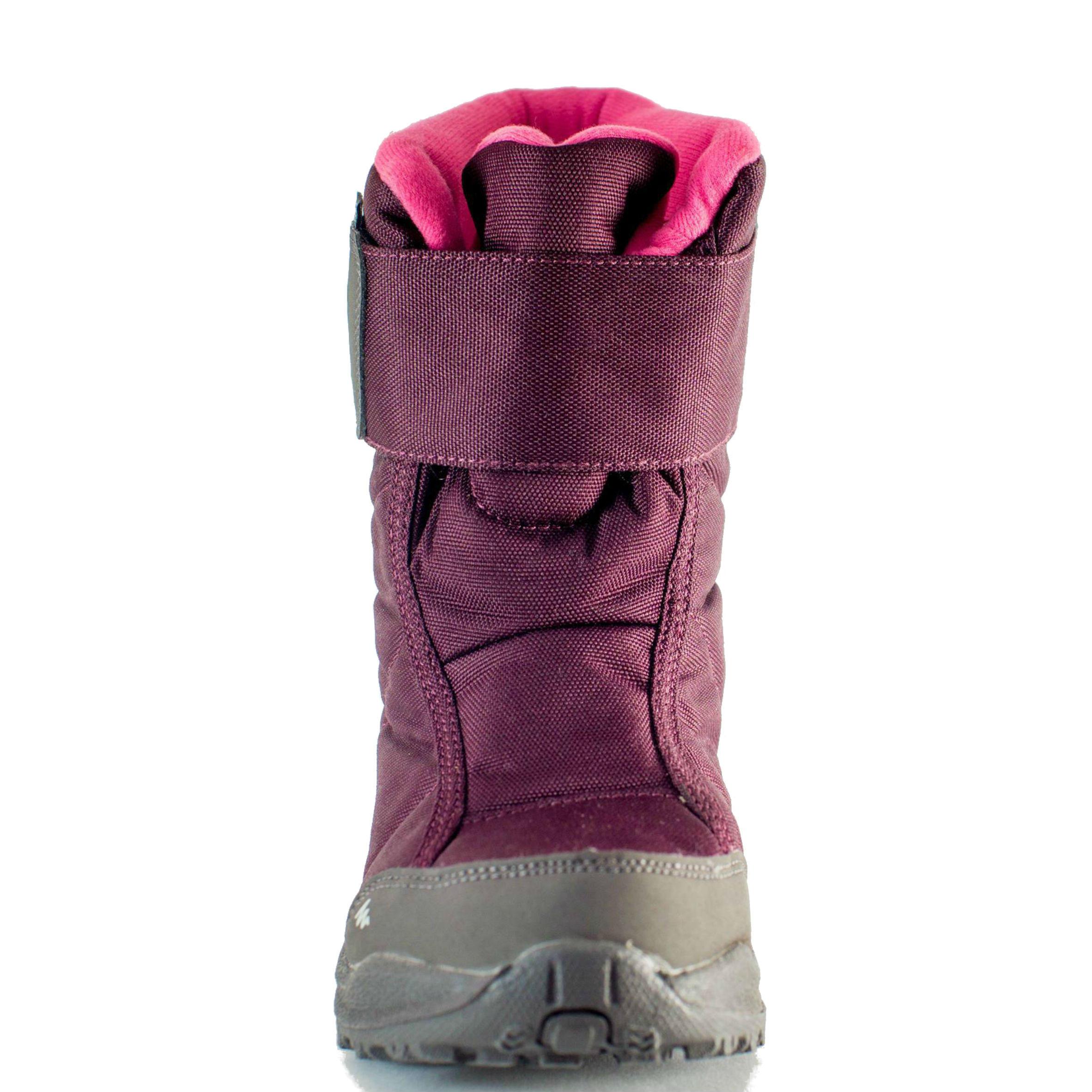 Bottes de randonnée neige junior SH100 x-warm Rose