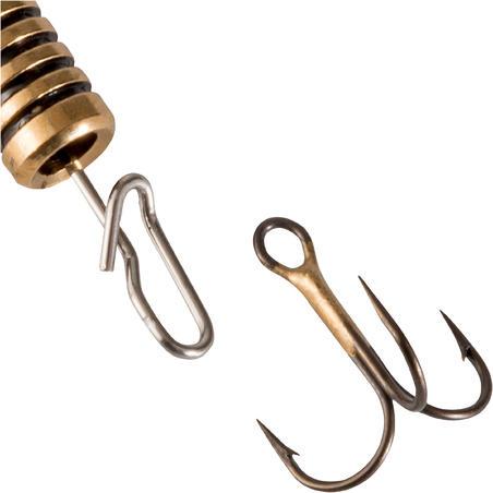 WETA + #0 ORANGE BLACK DOTS PREDATOR FISHING SPINNER