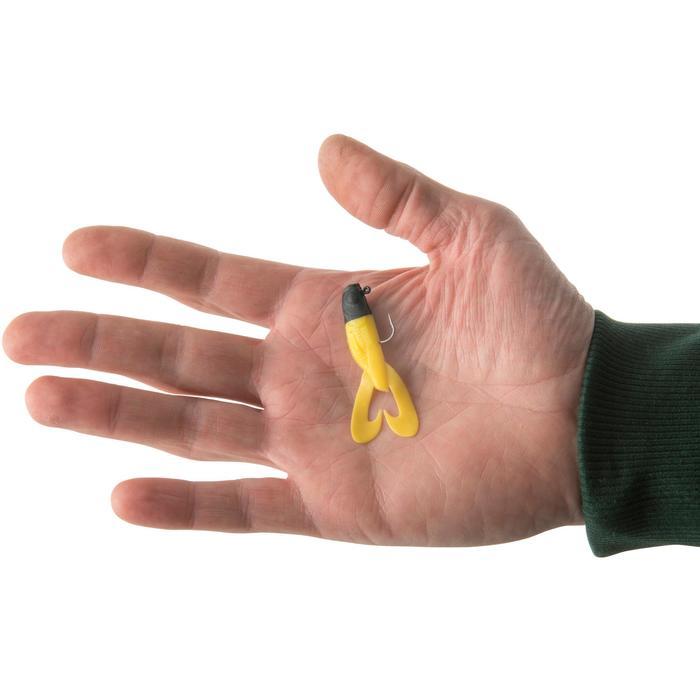 Gummiköder Raubfischangeln Gowy 60 schwarz/gelb