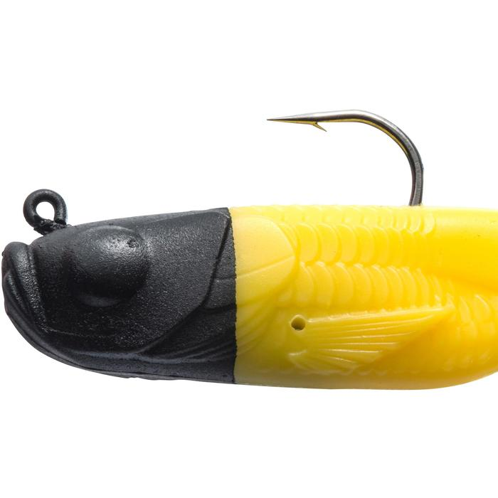 SEÑUELO FLEXIBLE PESCA DE DEPREDADORES GOWY 80 BLACK YELLOW
