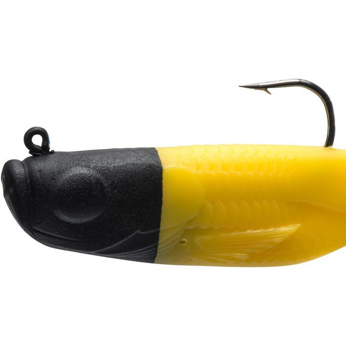 Softbait voor roofvissen Gowy 120 zwart geel