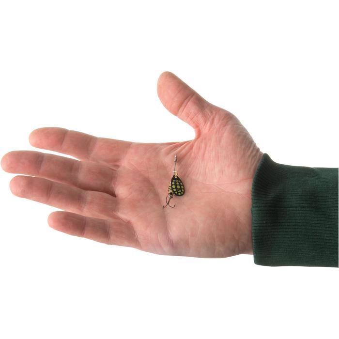 Spinner voor roofvissen Weta + #0 zwart gele stippen