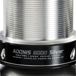 Werpmolen voor surfcasting Adonis 5000 zilverkleurig