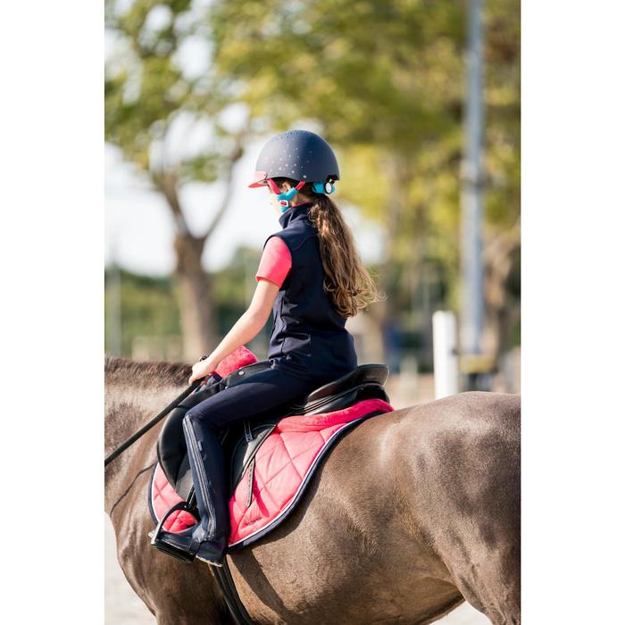 Gilet sans manche équitation fille 500 marine et rose