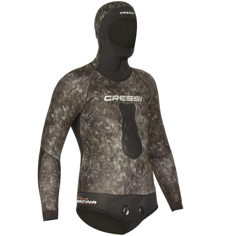SPEARFISHING SUITS 16/24° Populärt - Våtdräktsjacka 5mm TRACINA CRESSI-SUB - Badkläder, Våtdräkter och Flytvästar