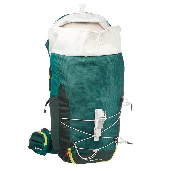 Mochila de Montaña y Senderismo Quechua MH100 40 Litros Verde