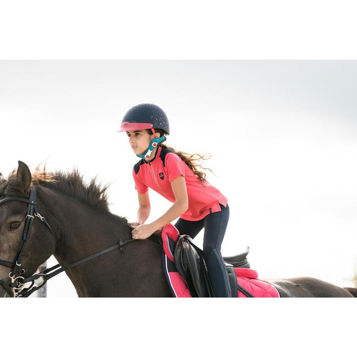 Casco de equitación 120 rosa, azul marino y azul