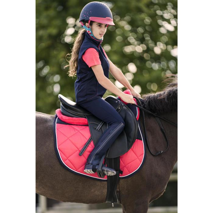 Pantalon fond de peau équitation enfant BR500 basanes marine - 1282160