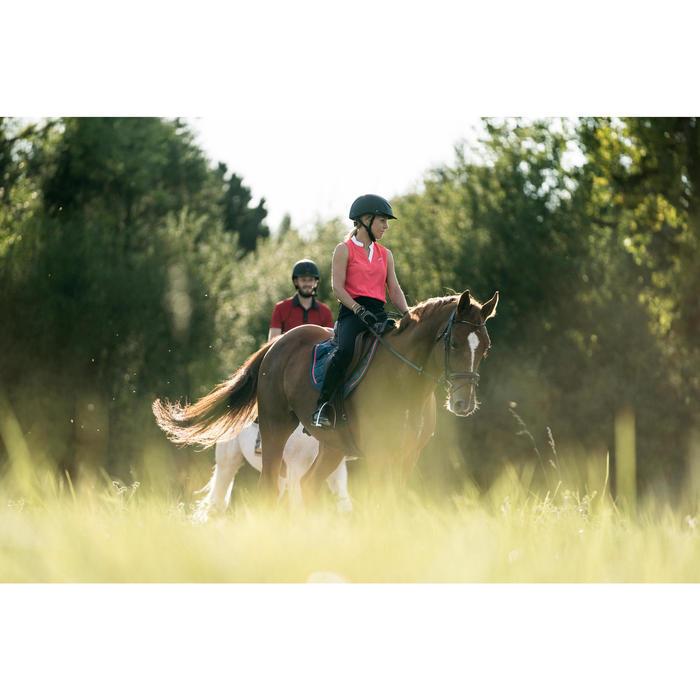Camiseta Equitación Fouganza 500 Mesh Mujer Rosa Sin Mangas