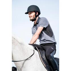 Polo Equitación Fouganza 500 Mesh Hombre Gris Manga Corta