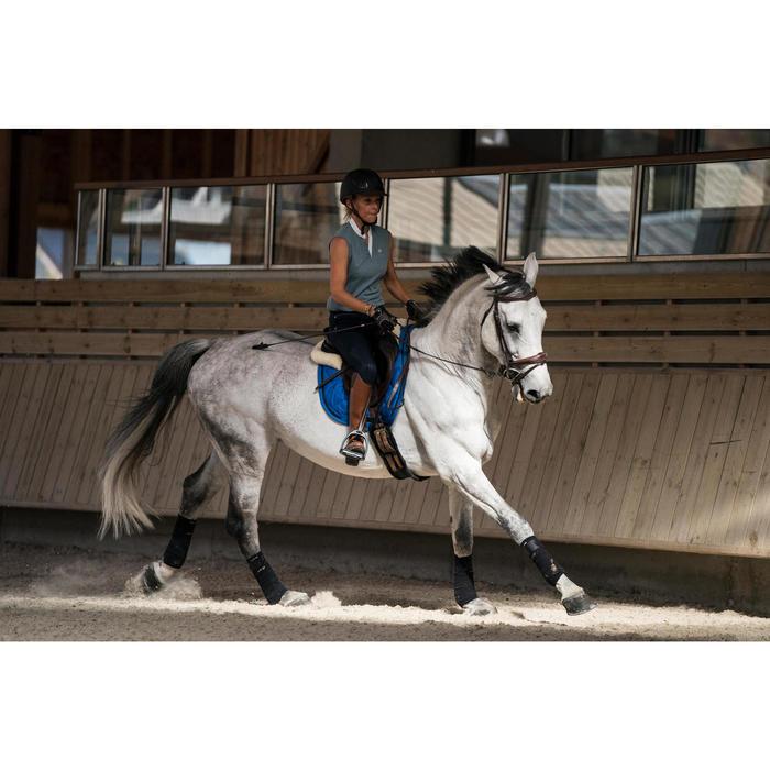 Guantes Equitación Fouganza PRO'LEATHER Adulto Marrón con Palma de Piel