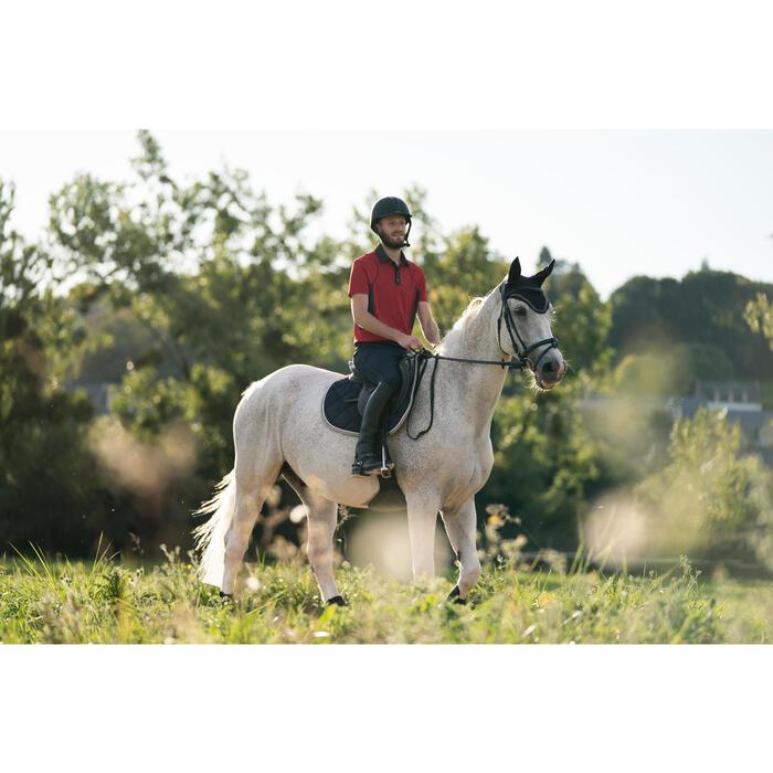 Pantalon équitation homme léger TRAINING MESH gris carbone et - 1282198