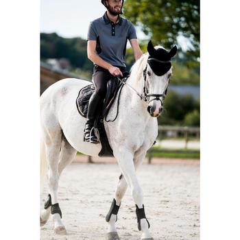 Pantalon équitation homme léger TRAINING MESH gris carbone et - 1282200