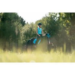 Tapis de selle équitation cheval 540 turquoise