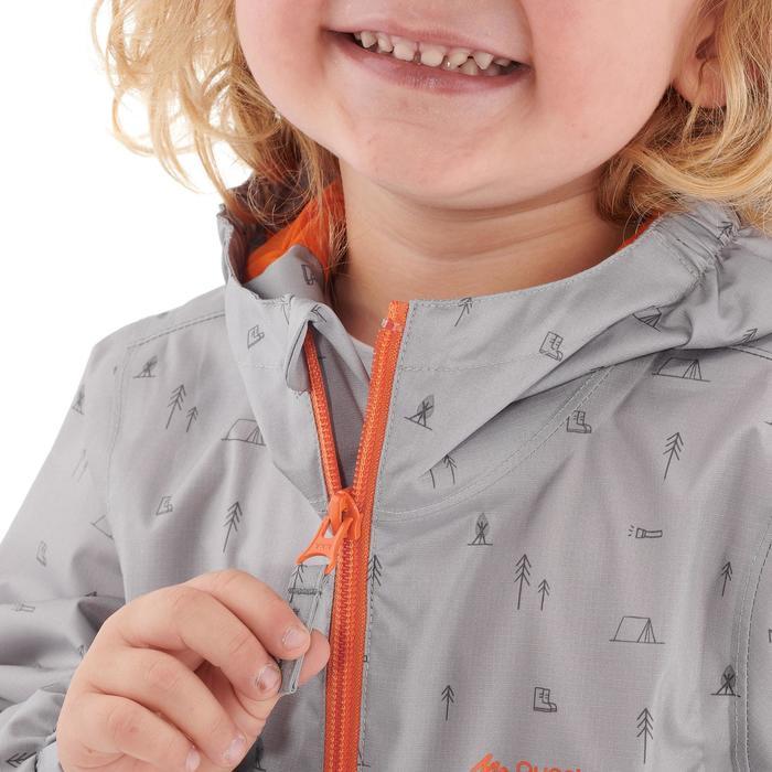 Hike 500 Children's Boy's Waterproof Hiking Jacket – Blue Print - 1282231
